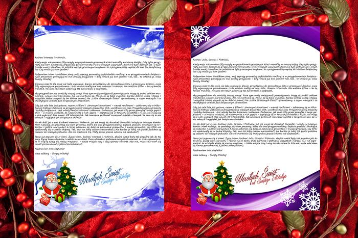 Papeterie do listu od Świętego Mikołaja 3 i 4