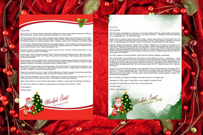 Papeterie do listu od Świętego Mikołaja 1 i 2
